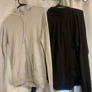 Lululemon black rulu hooded sweatshirt